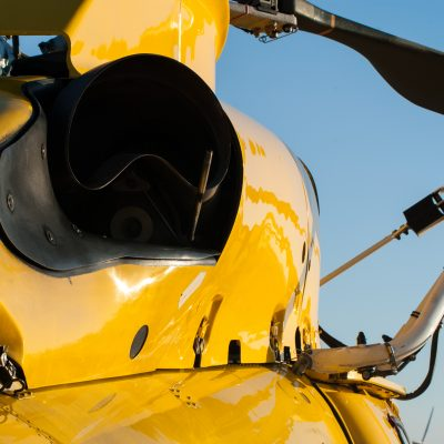 Close up of a SAR Helicopter